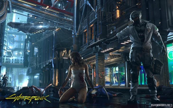 Картинка с тизер-трейлера Cyberpunk 2077