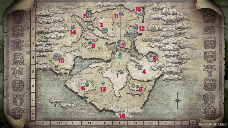 Карта с колоссами