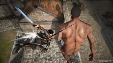 Attack on Titan 2: Персонаж Эрен в бою 1