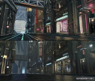 Cyberpunk 2077: Концепт-арт окружения для тизер-трейлера 1