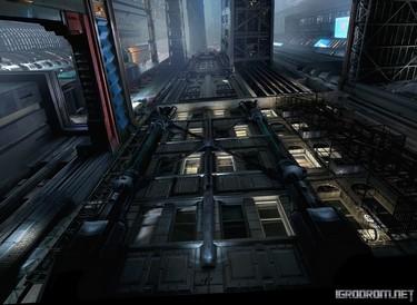 Cyberpunk 2077: Концепт-арт окружения для тизер-трейлера 2