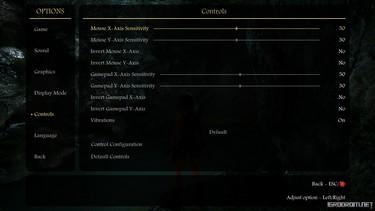 Скриншоты опций и обучения в игре